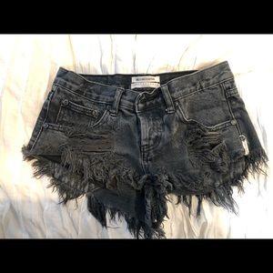 Black ONE TEASPOON shorts